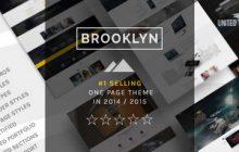 دانلود قالب تک صفحه ای Brooklyn برای وردپرس