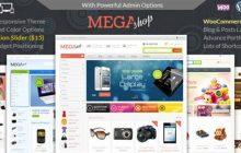 دانلود قالب فروشگاهی MegaShop برای ووکامرس