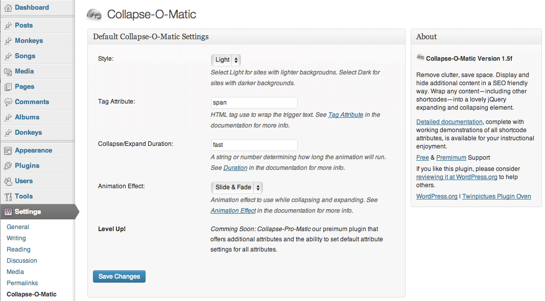Collapse-O-Matic plugins