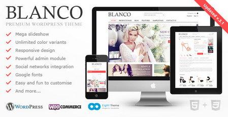 دانلود قالب فروشگاهی و چندمنظوره Blanco نسخه 3.1