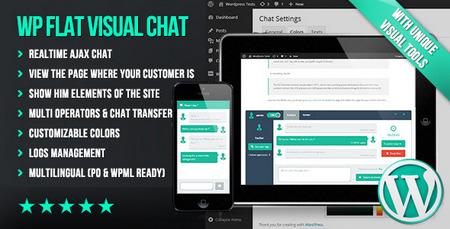 افزونه گفتگو با مشتریان WP Flat Visual Chat نسخه 5.2.1