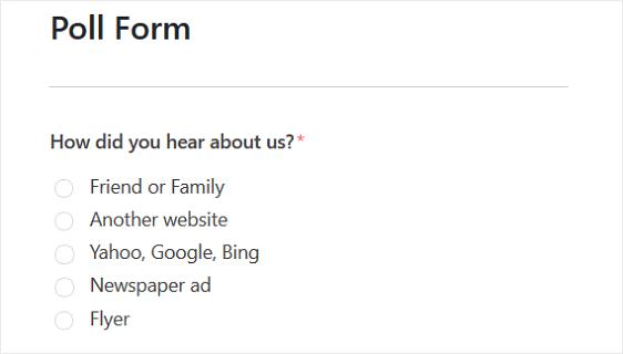 ساخت نظرسنجی در سایت